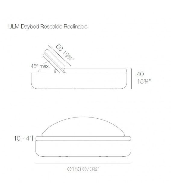 Ulm Daybed Reclinable