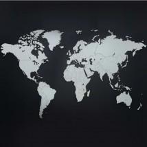 Mapamundi blanco 130x78