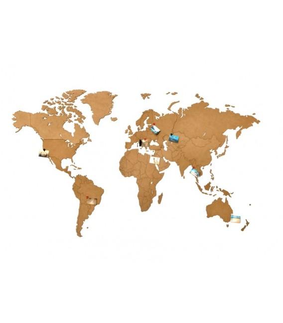 Mapamundi marrón 130x78