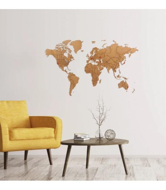 Mapamundi marrón 100x60
