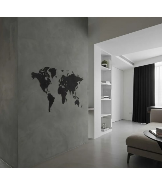 Mapamundi negro 100x60