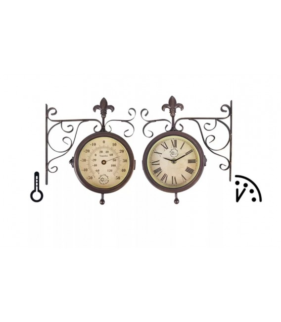 Reloj de estación con termómetro