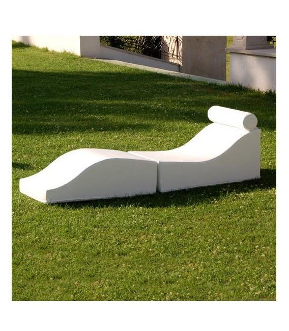 Tumbona de dos piezas plegable