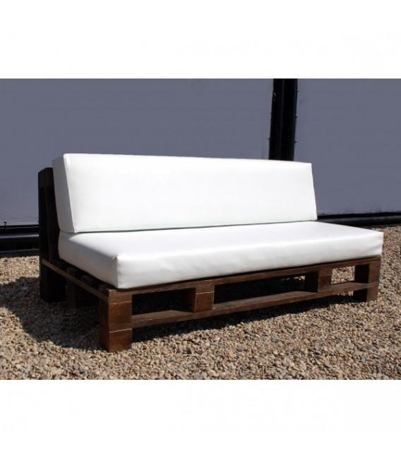 Sofá con estructura de palet